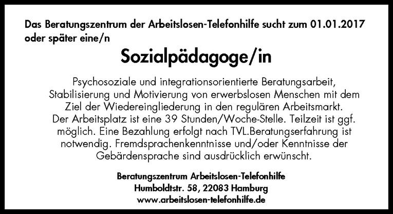 Sozialpädagoge/in