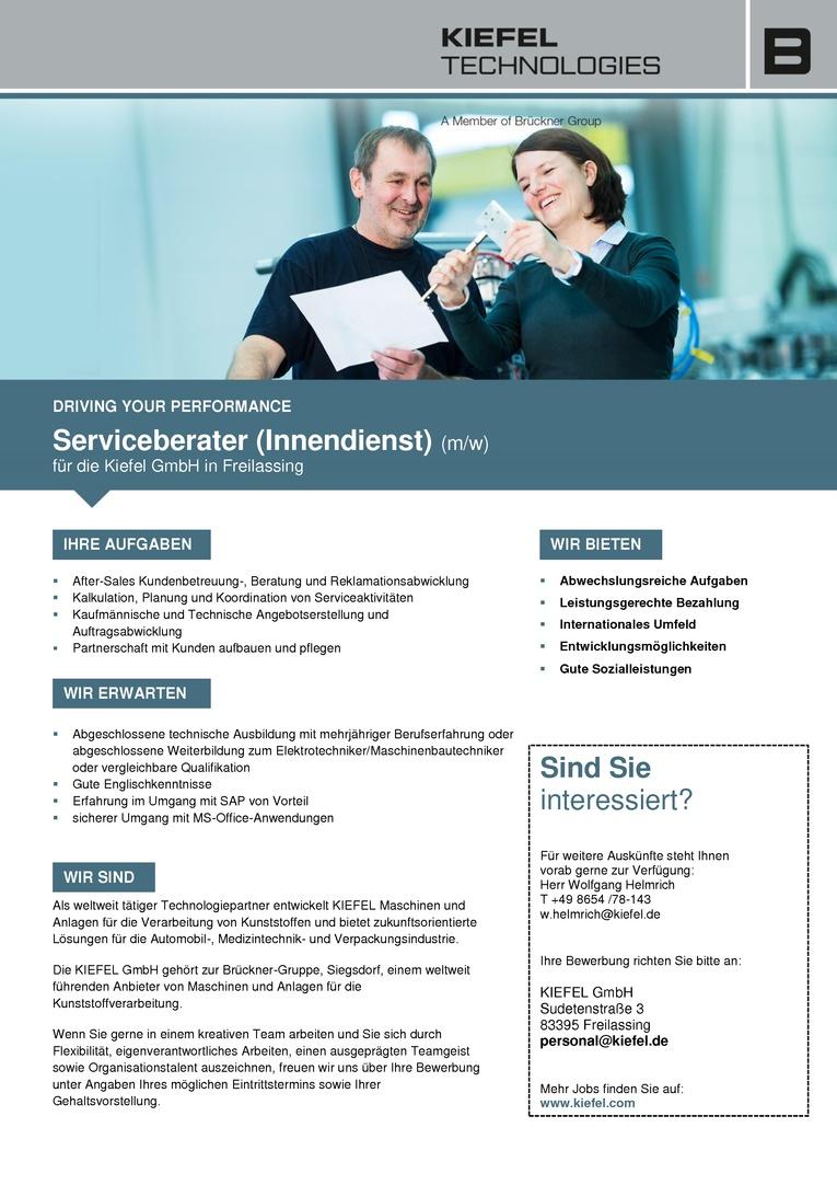 Serviceberater (Innendienst) (m/w)