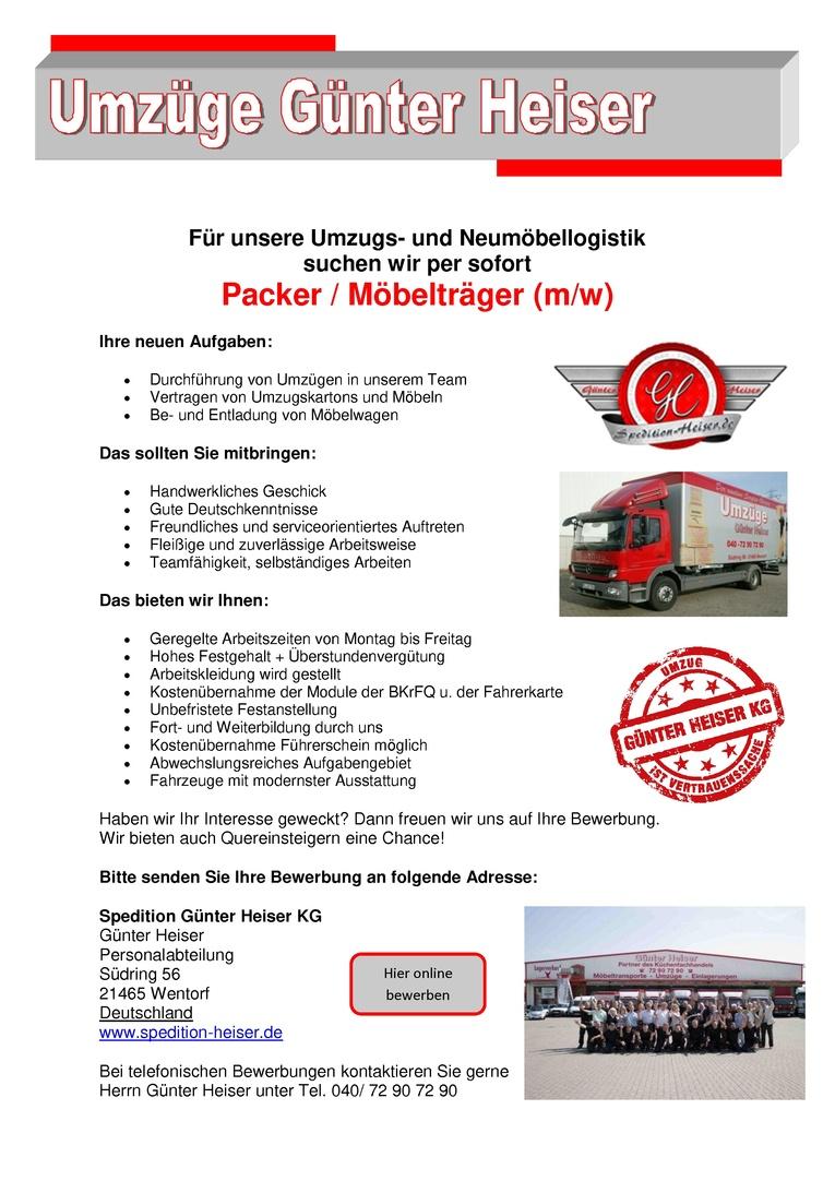 Packer & Möbelträger (m/w)