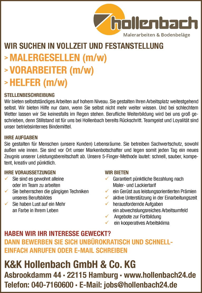 Malergesellen (m/w)