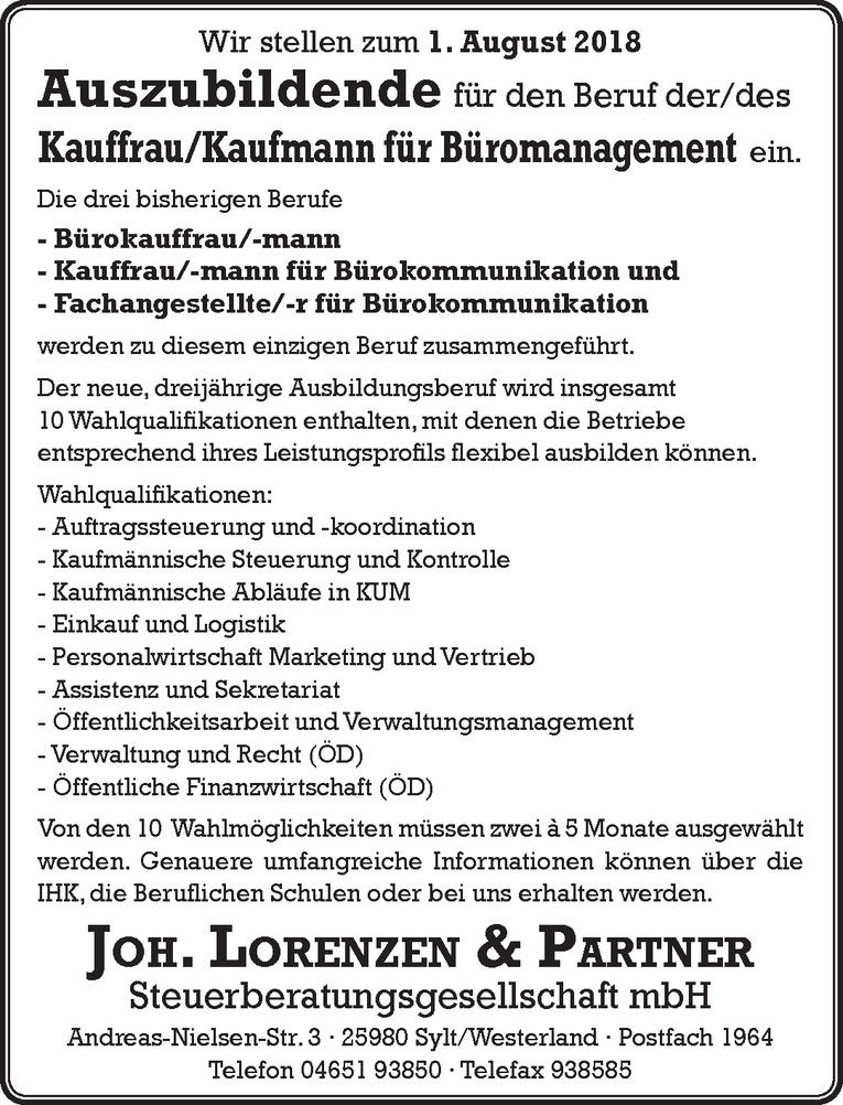 Auszubildende Kauffrau/Kaufmann für Büromanagement