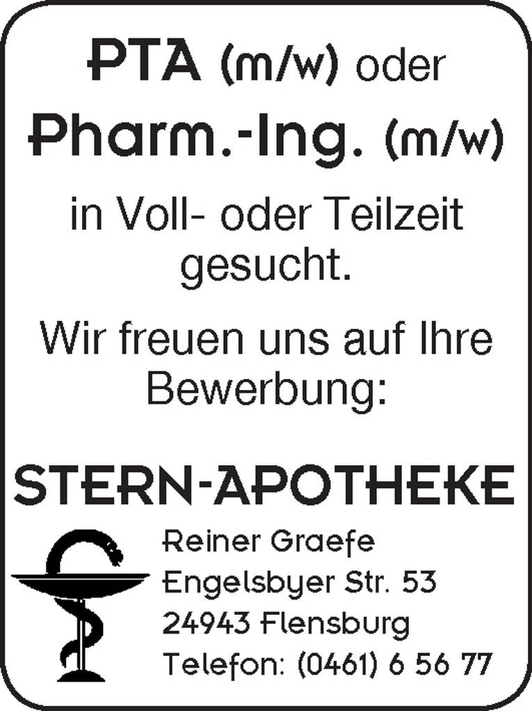 PTA (m/w) oder Pharm.-Ing. (m/w)