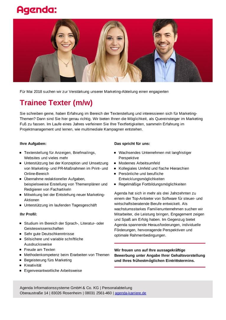 Trainee Texter (m/w)