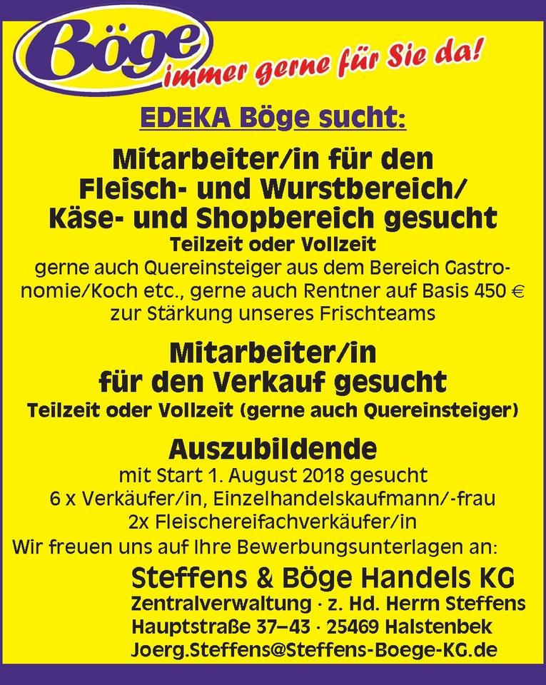 Mitarbeiter/in für den Fleisch- und Wurstbereich/Käse- und Shopbereich