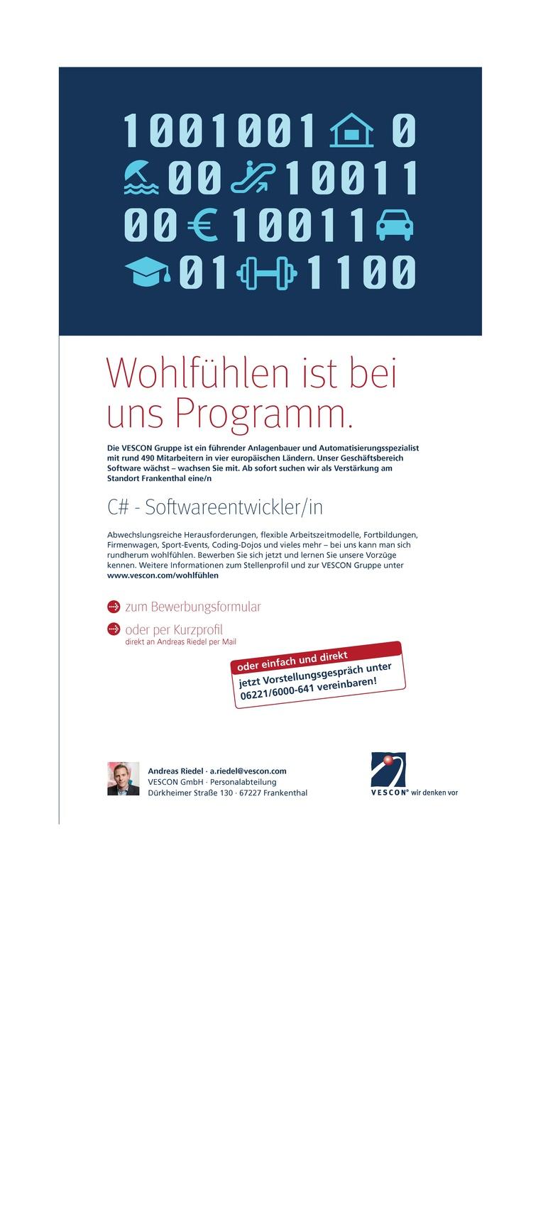 C# Softwareentwickler (m/w)
