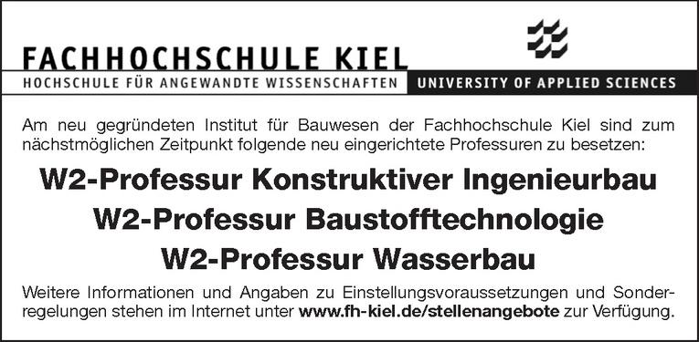 W2-Professur Wasserbau