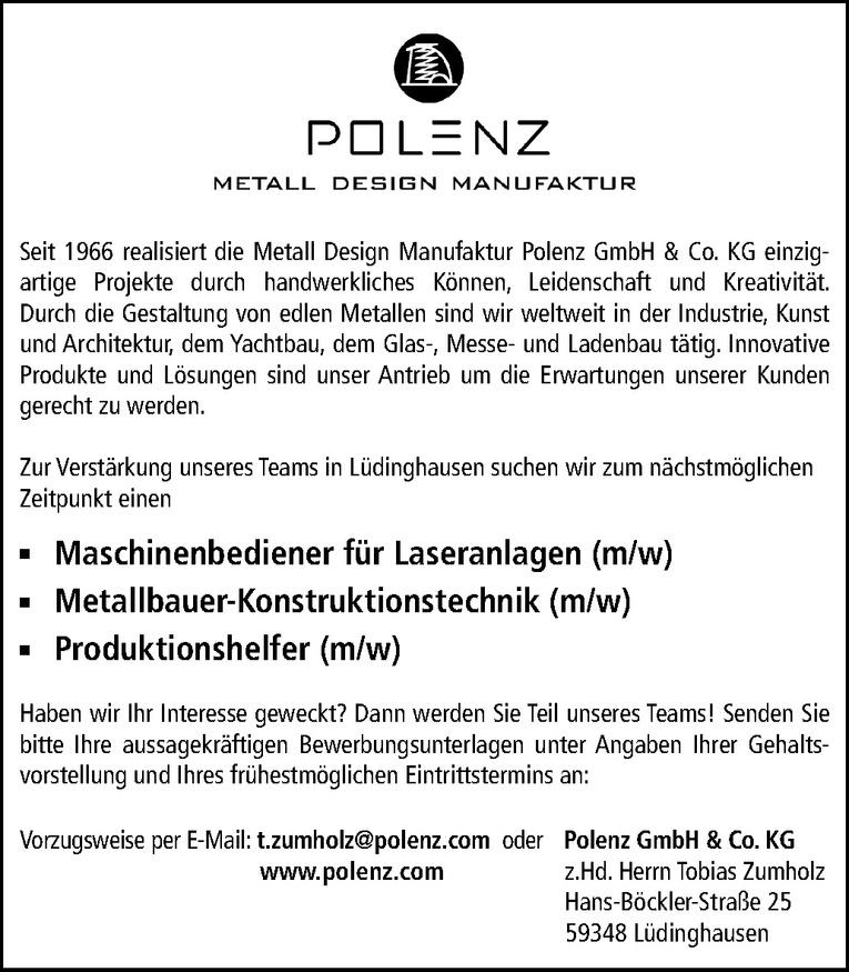 Metallbauer-Konstruktionstechnik (m/w)