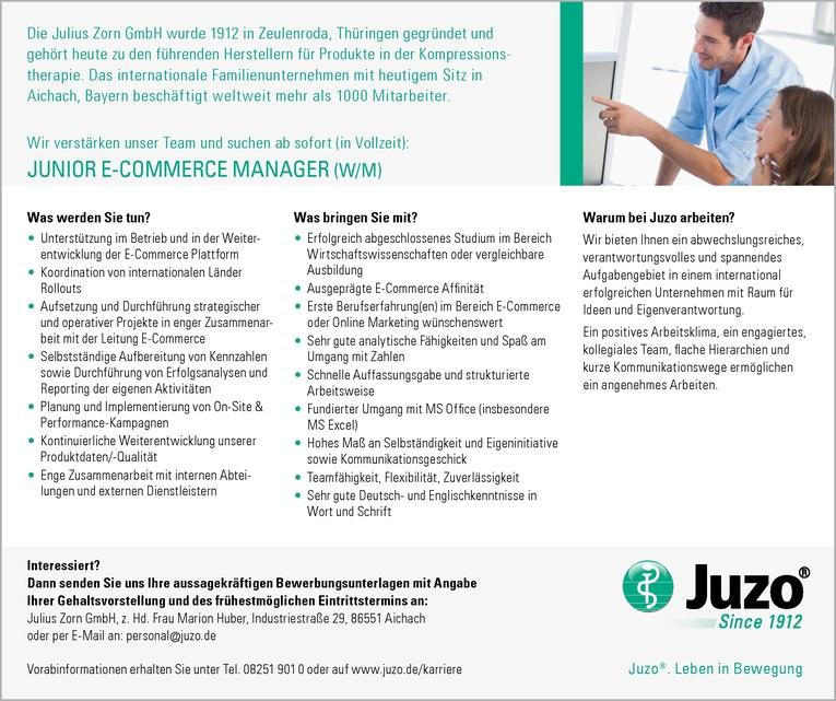 JUNIOR E-COMMERCE MANAGER (W/M)
