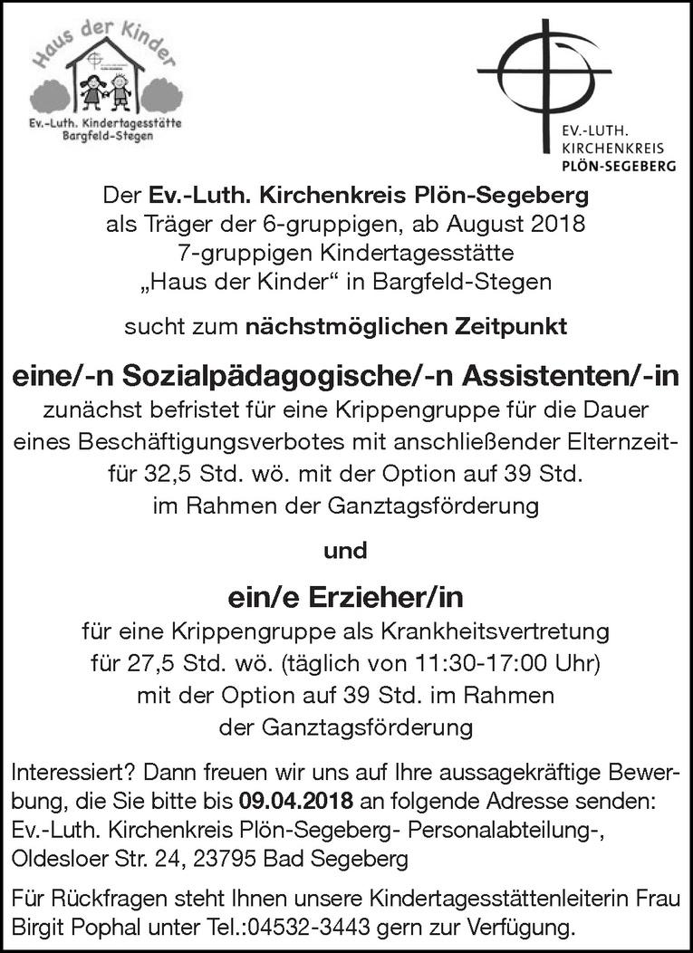 Sozialpädagogische/-n Assistenten/-in