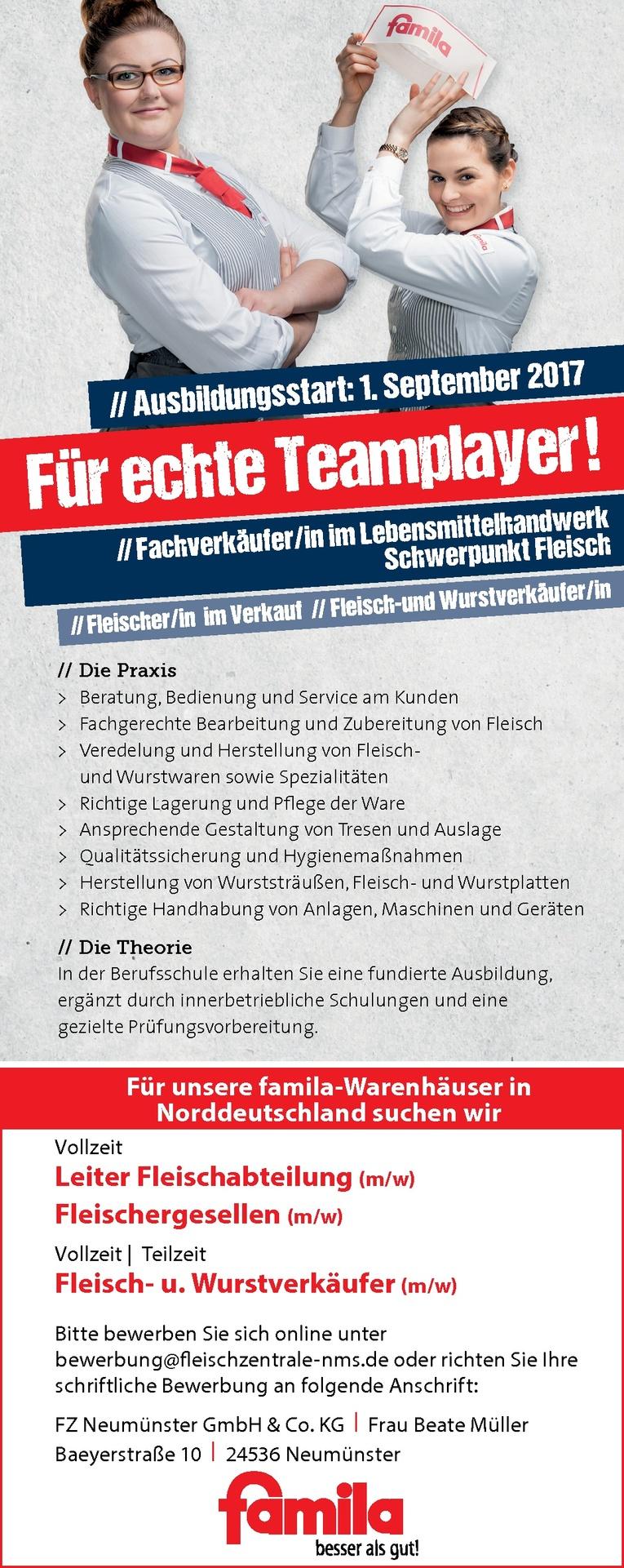 Ausbildung: Fleich- und Wurstverkäufer/in