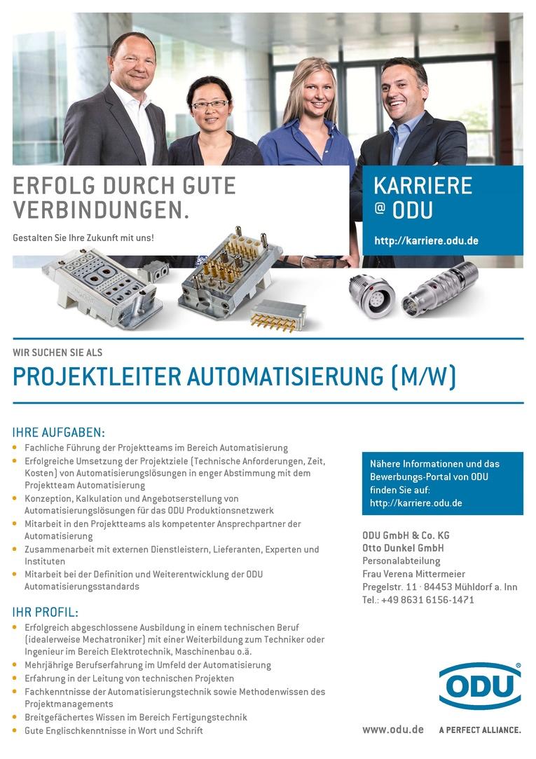 Projektleiter Automatisierung (m/w)