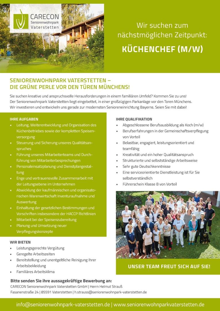 KÜCHENCHEF (m/w)