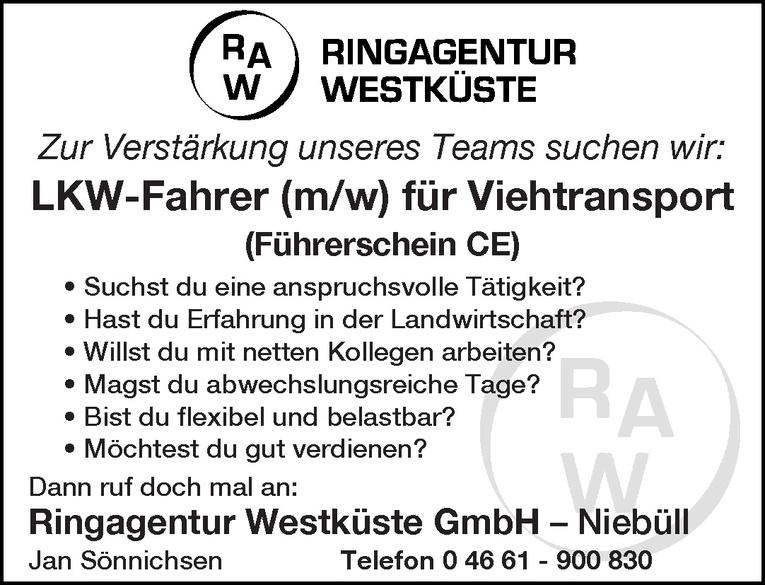 LKW-Fahrer (m/w) für Viehtransport