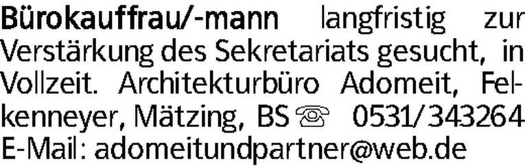 Bürokaufmann (w/m)