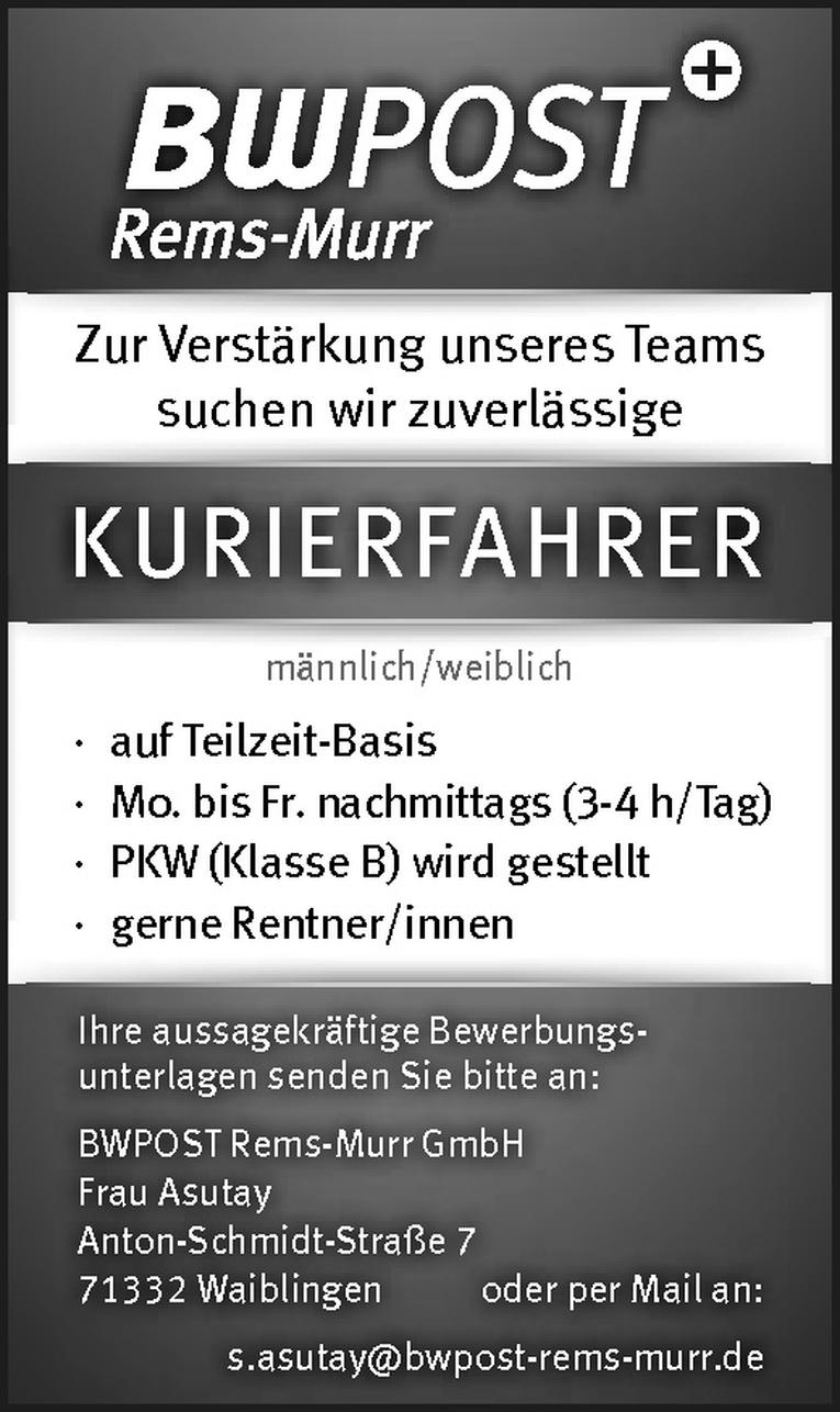 KURIERFAHRER m/w
