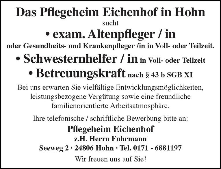 exam. Altenpfleger / in