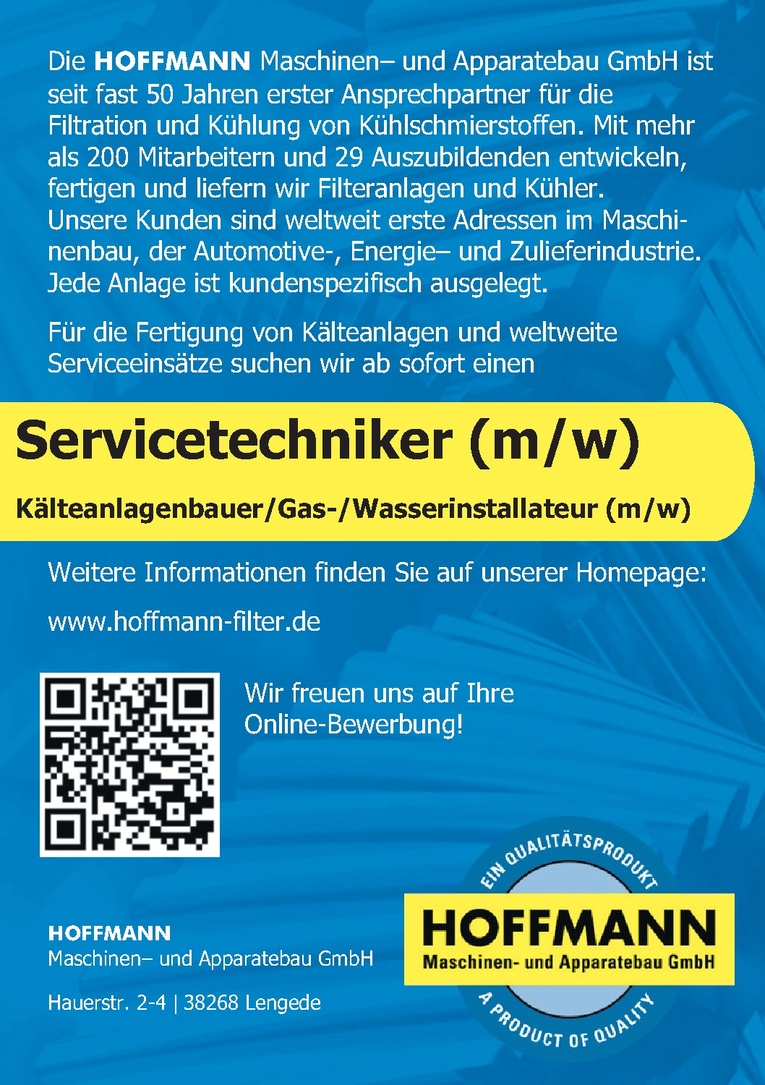 Kälteanlagenbauer /Gas- / Wasserinstallateur (m/w)