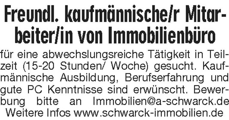 Freundl. kaufmännische/r Mitarbeiter/in
