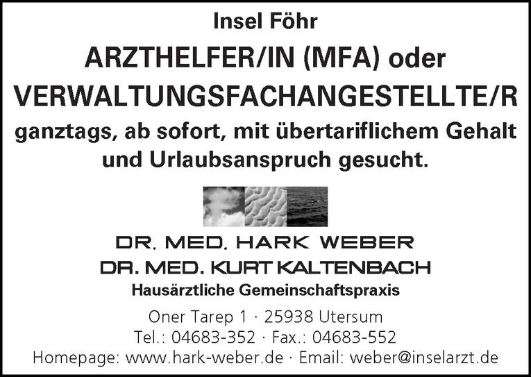 Arzthelfer/In (MFA) oder Verwaltungsfachangestellte /r