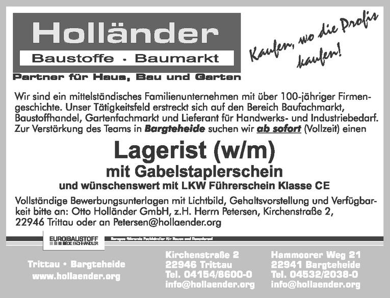 Lagerist (w/m)