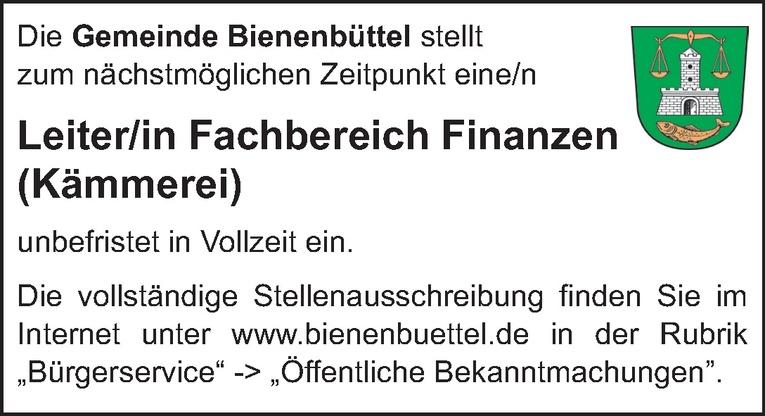 Leiter/in Fachbereich Finanzen