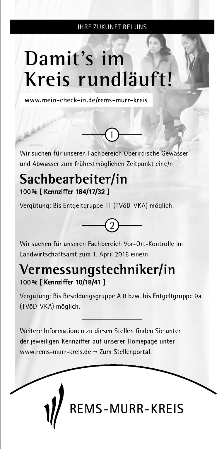 Vermessungstechniker/in 100 % [ Kennziffer 10/18/41 ]