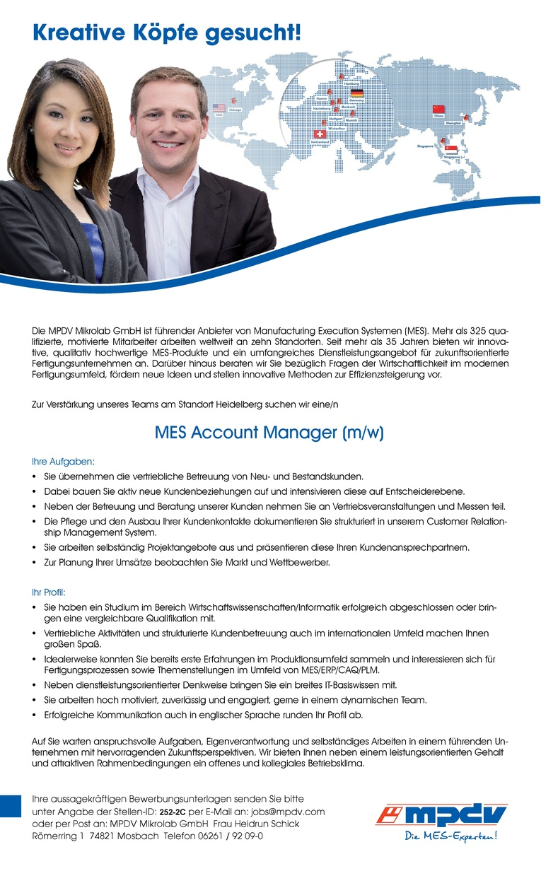 Account Manager MES (m/w)
