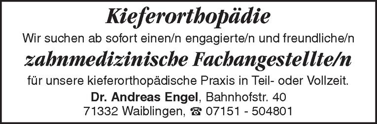 zahnmedizinische Fachangestellte/n