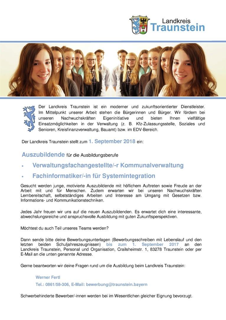Auszubildende/-r zur/-m Verwaltungsfachangestellte/-n Kommunalverwaltung