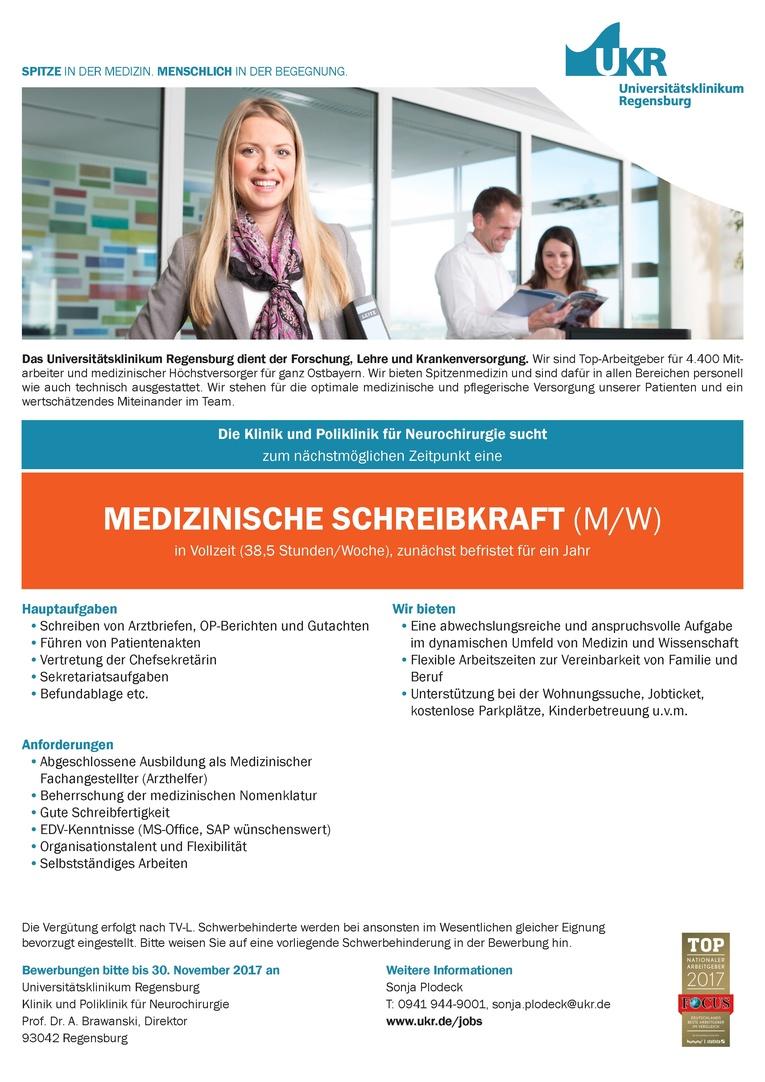 MEDIZINISCHE SCHREIBKRAFT (M/W)