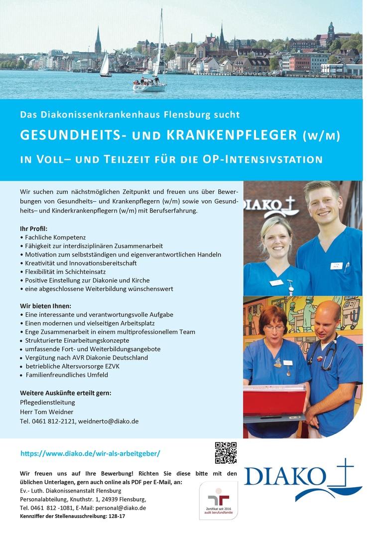 Gesundheits- und (Kinder-)Krankenpfleger (w/m) für unser Operative Intensivstation