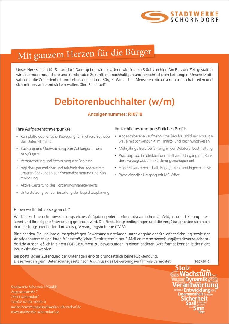 Debitorenbuchhalter (w/m) R10718