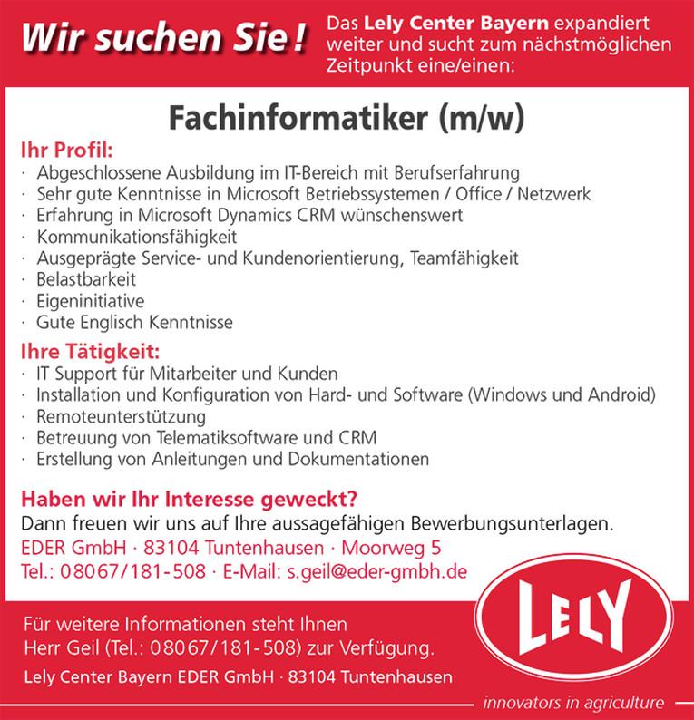 Fachinformatiker (m/w) in Tuntenhausen