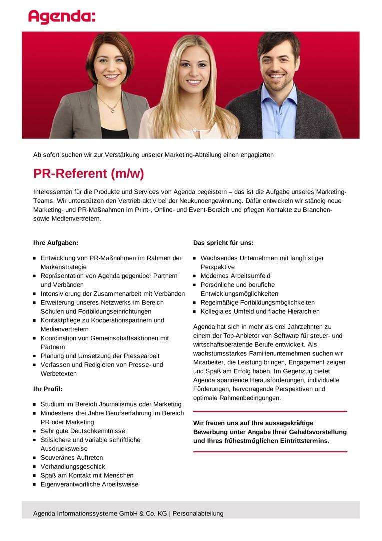 PR-Referent (m/w)