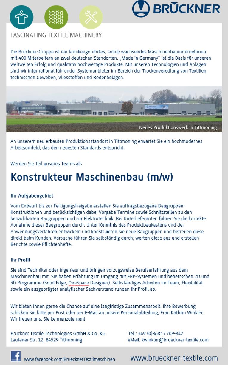 Konstrukteur Maschinenbau (m/w)