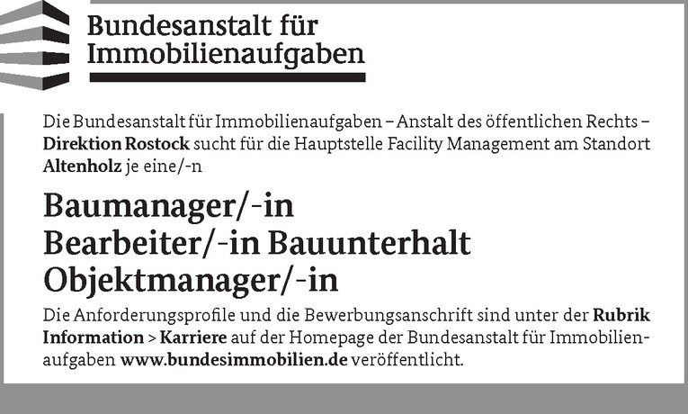 Objektmanager/-in