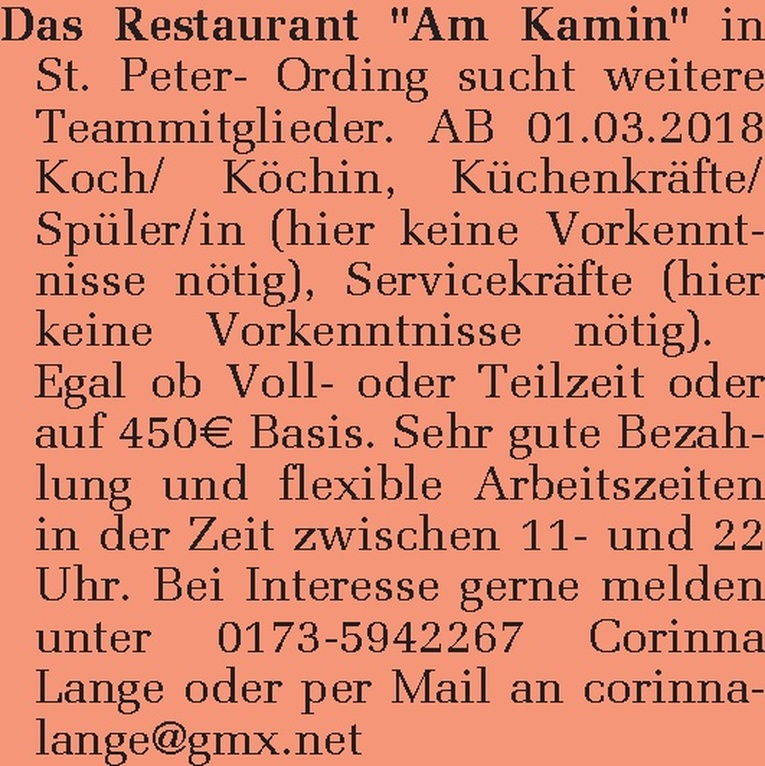 Küchenkräfte/ Spüler/in
