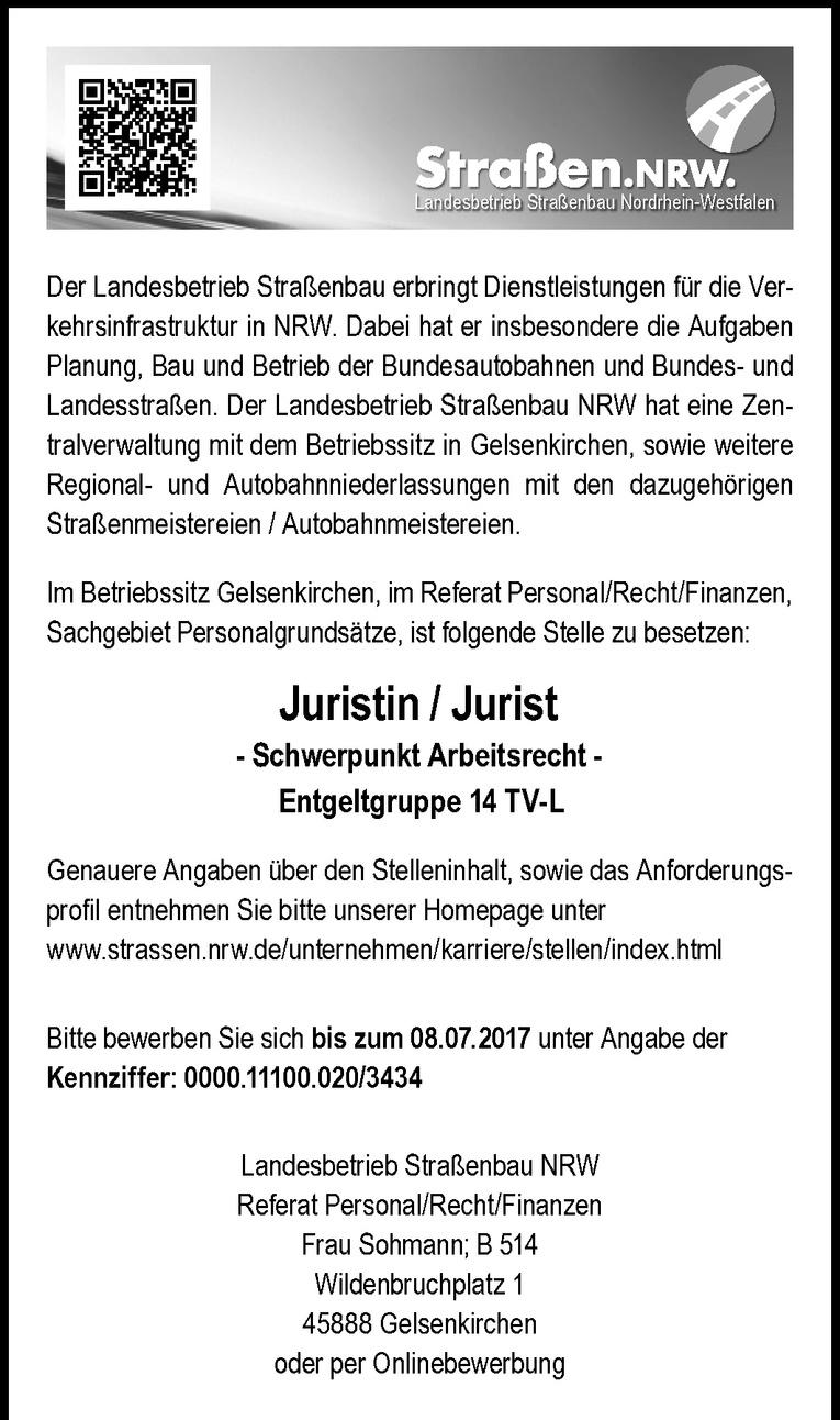 Juristin / Jurist - Schwerpunkt Arbeitsrecht