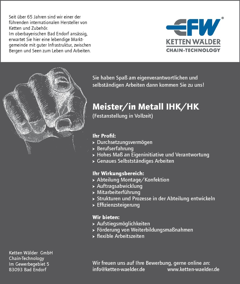 Meister/in Metall IHK/HK