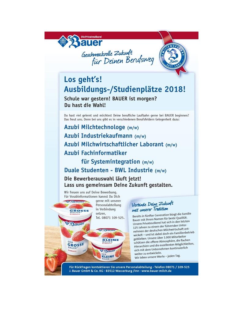 Ausbildung Milchwirtschaftlicher Laborant (m/w) ab September 2018
