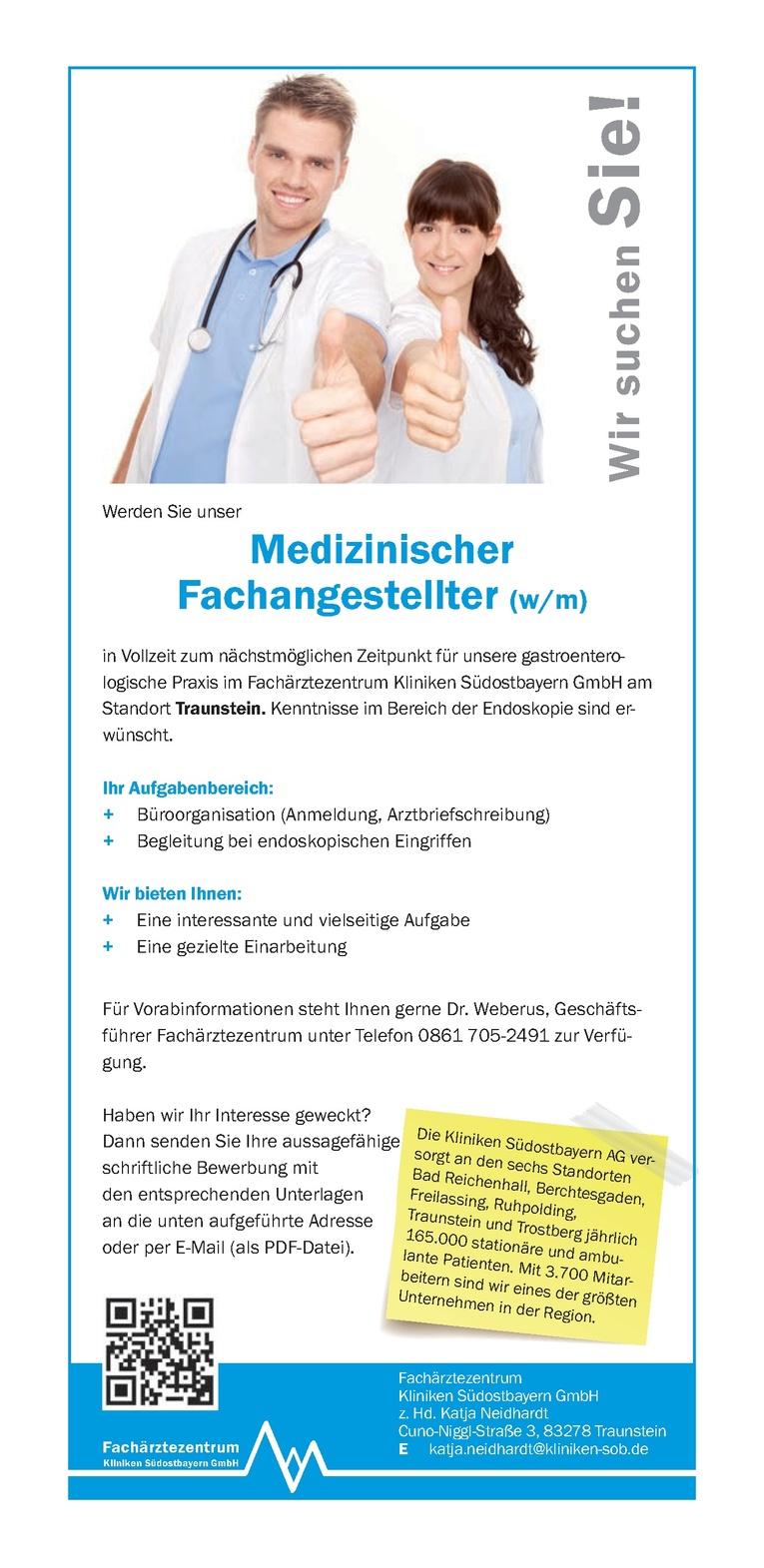 Medizinischer Fachangestellter (w/m)