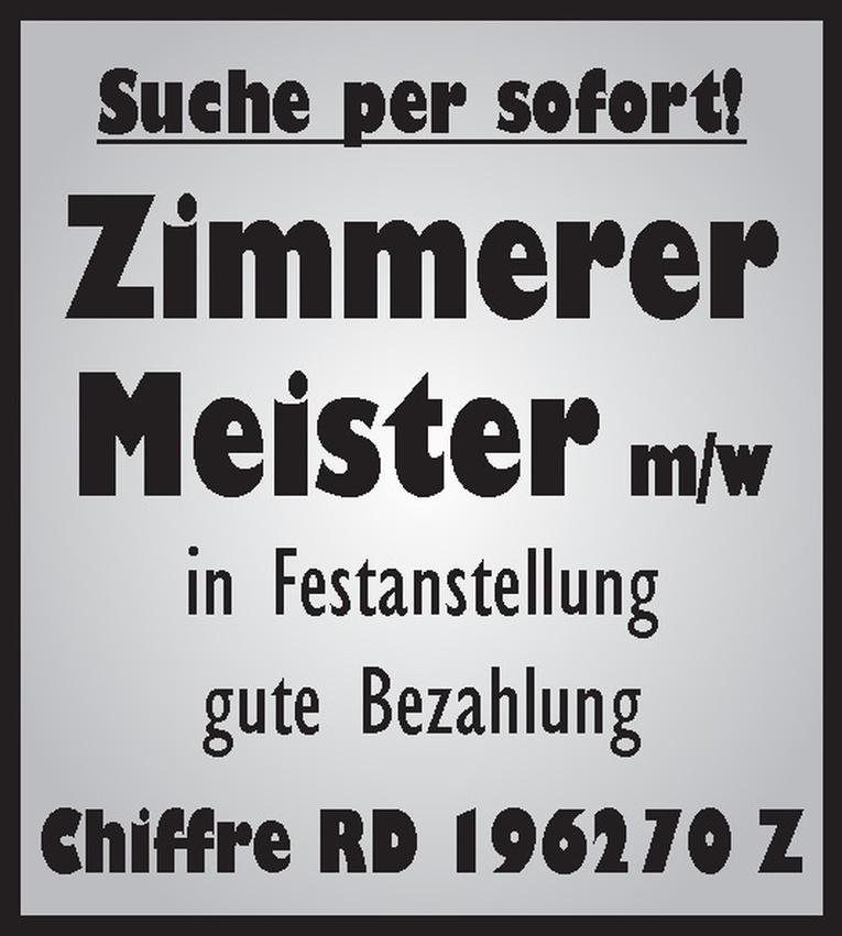 Zimmerer-Meister m/w