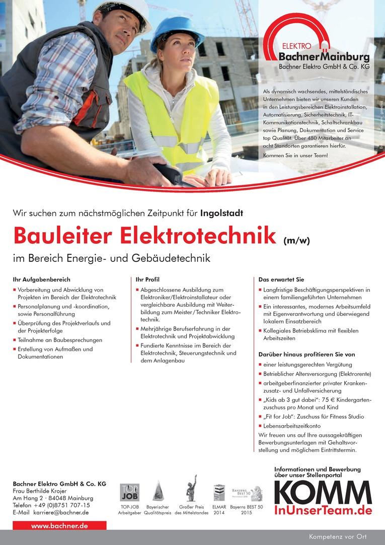 Bauleiter Elektrotechnik (m/w)