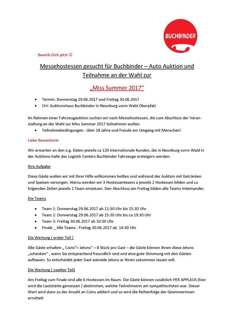 Messehostess - Buchbinder Auto Auktion