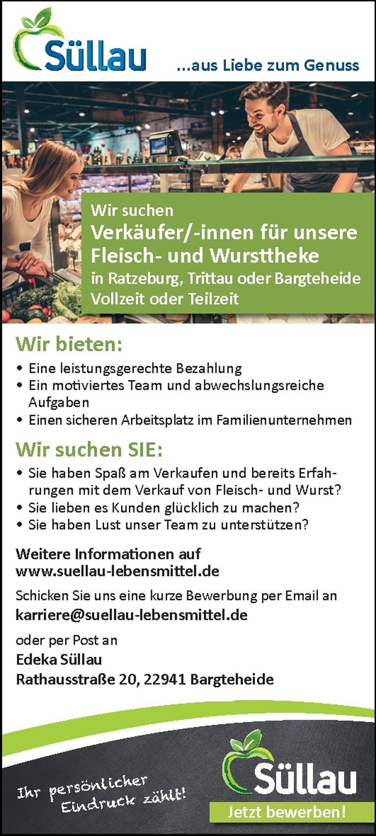 Verkäufer/-innen für unsere Fleisch- und Wursttheke
