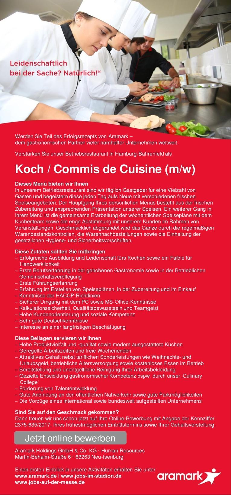 Koch / Commis de Cuisine (m/w)