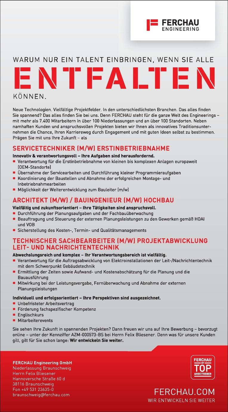 ARCHITEKT / BAUINGENIEUR (M/W)