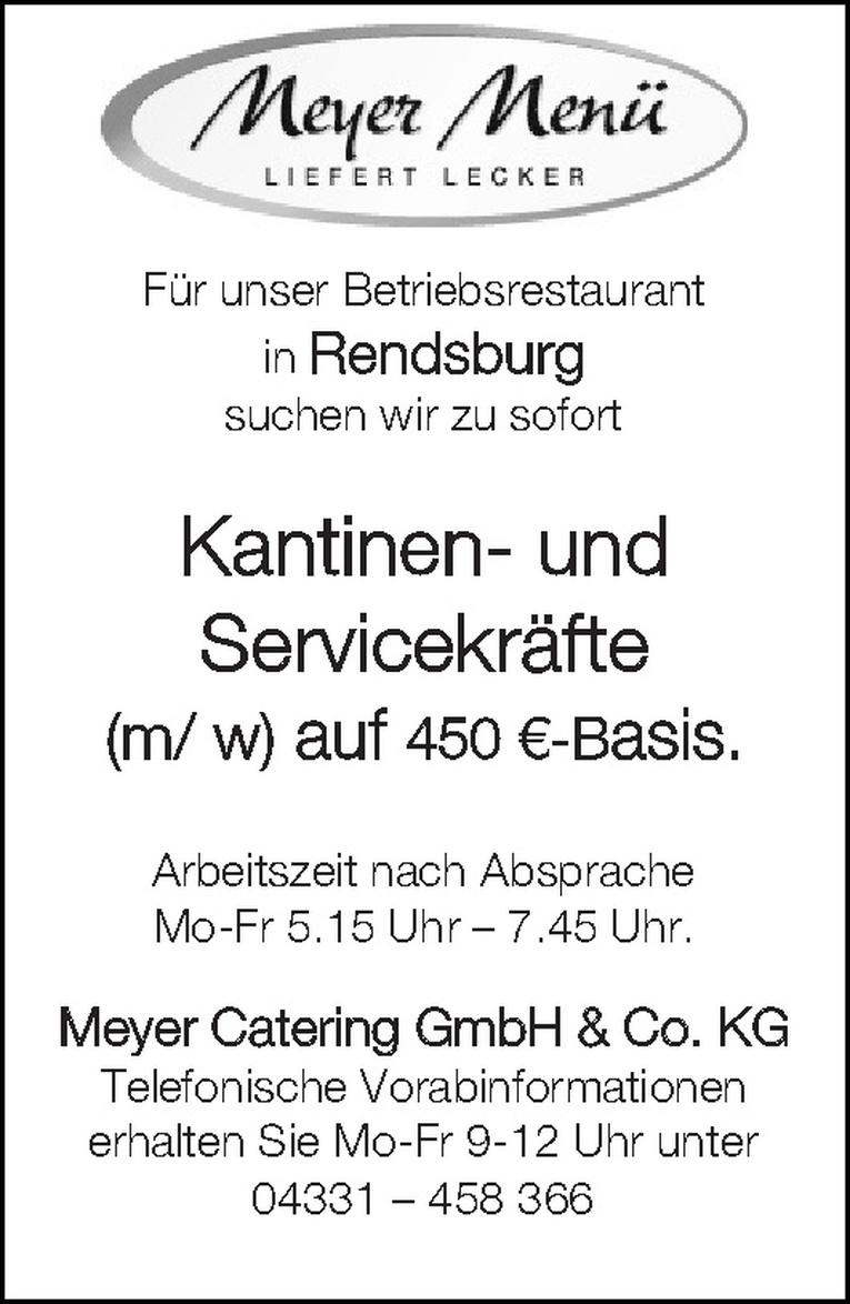 Kantinen- und Servicekräfte (m/ w)