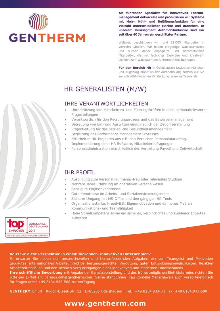 HR Generalist (m/w)