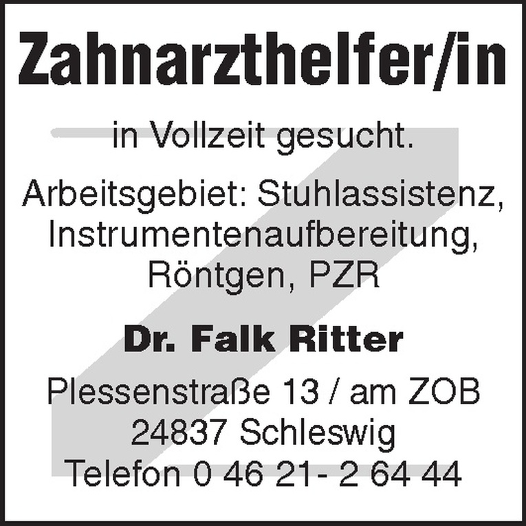 Zahnarzthelfer/in